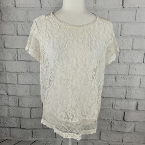 The Limited - laced up and see-through blouse